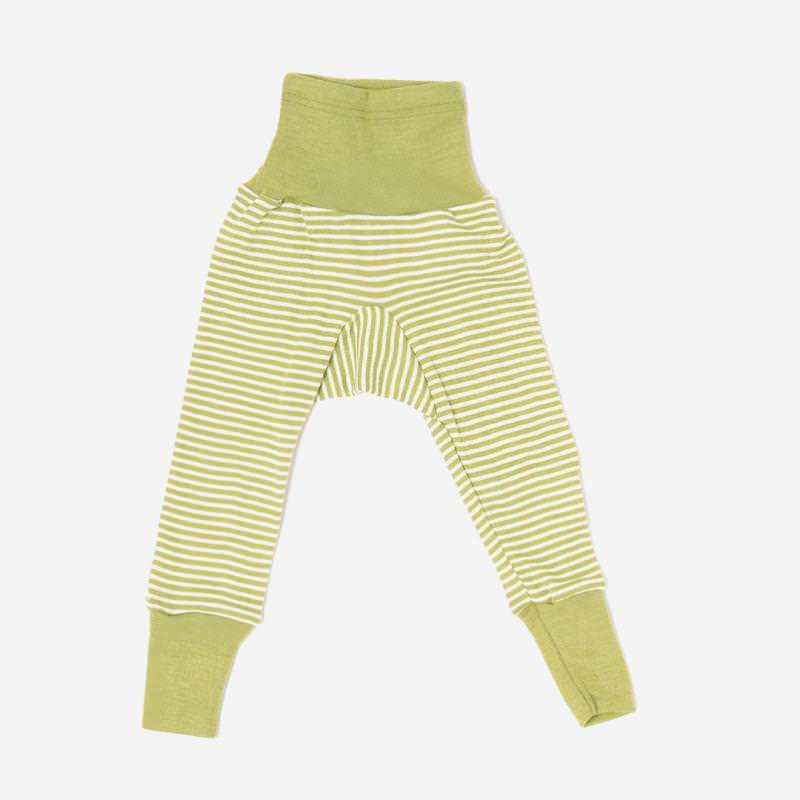 Baby Hose mit Bund von Cosilana in grün geringelt