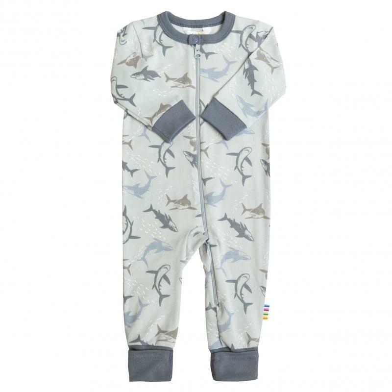 Schlafanzug Haie blau