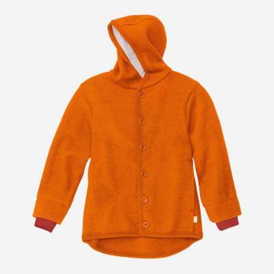 Kinder Walk-Jacke von Disana aus Schurwolle in orange