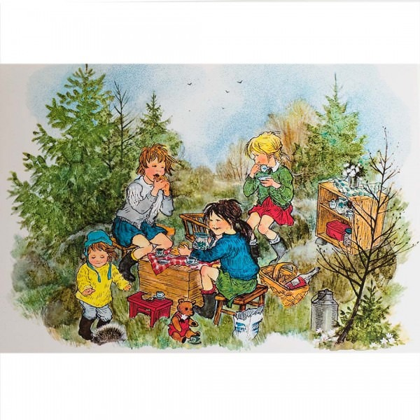 Postkarte Bullerbü - Geburtstag
