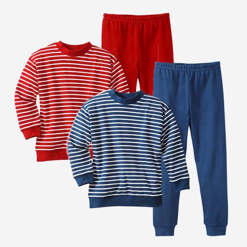 Schlafanzug Ringel Baumwolle