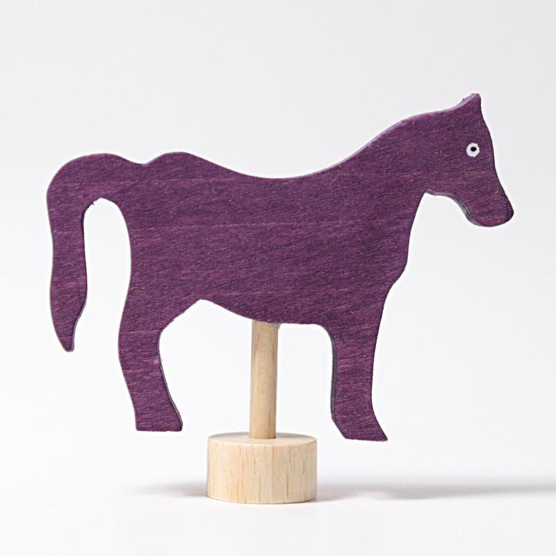 grimms figurenstecker holz geburtstagsring pferd lila violett