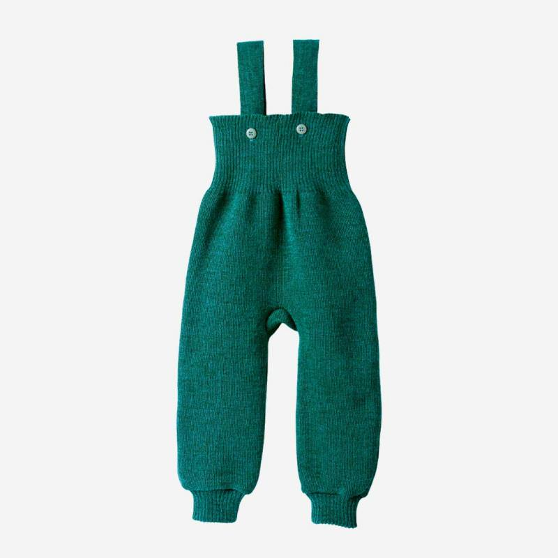 Baby Strick Trägerhose von Disana aus Wolle in pacific
