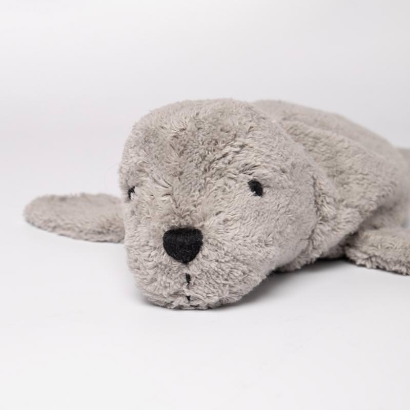 Kuscheltier Robbe grau klein