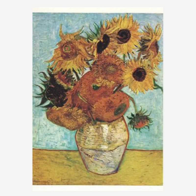 Postkarte Sonnenblumen (Van Gogh)