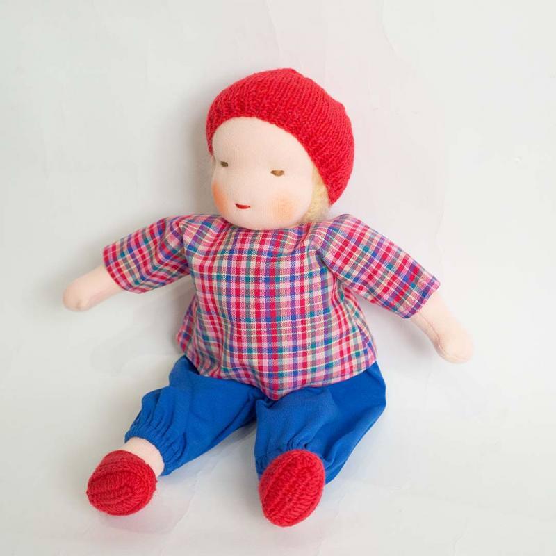 Puppe Junge nach Waldorfart groß