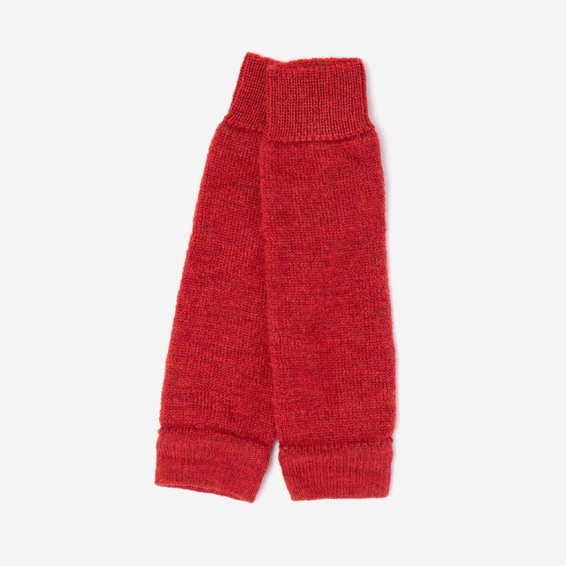 Stulpen von Hirsch aus Wolle für Erwachsene in rot