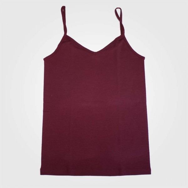 Trägerhemd Wolle/Seide bordeaux