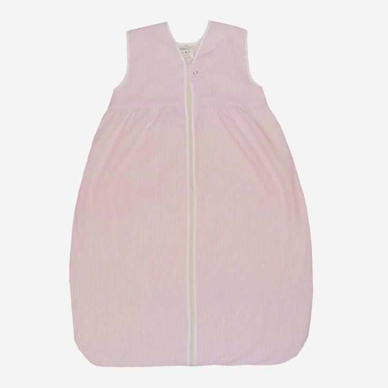 Schlafsack Plüsch Baumwolle rosa Streifen