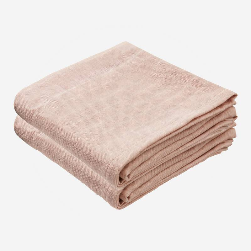 Musselin Tuch 2-er Pack blossom pink