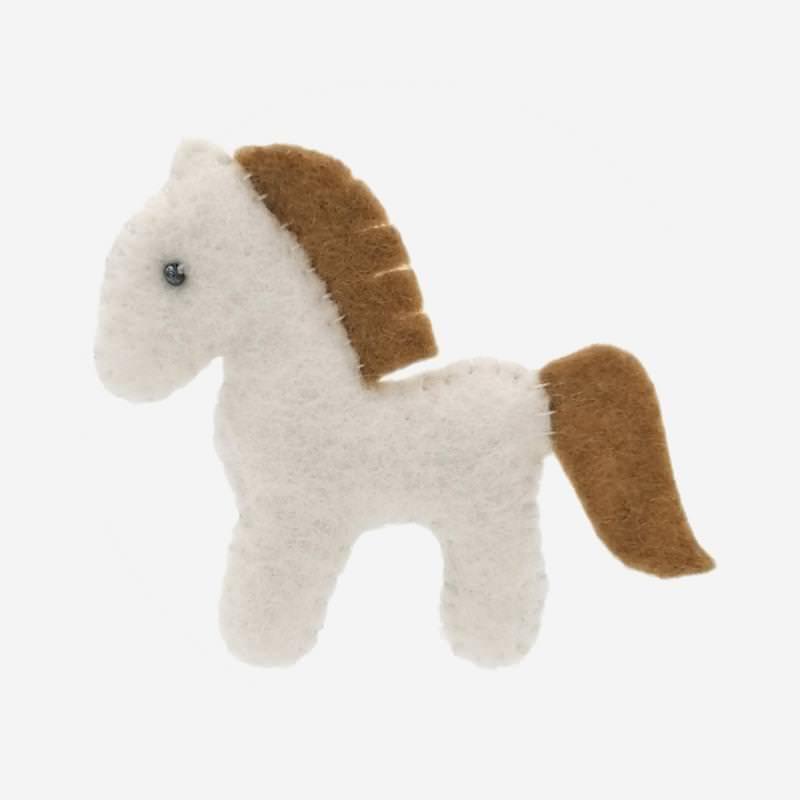 Kleine Filz Freunde weißes Pferd