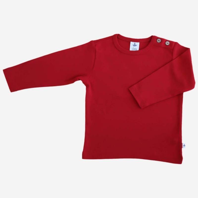 Shirt Baumwolle ziegelrot