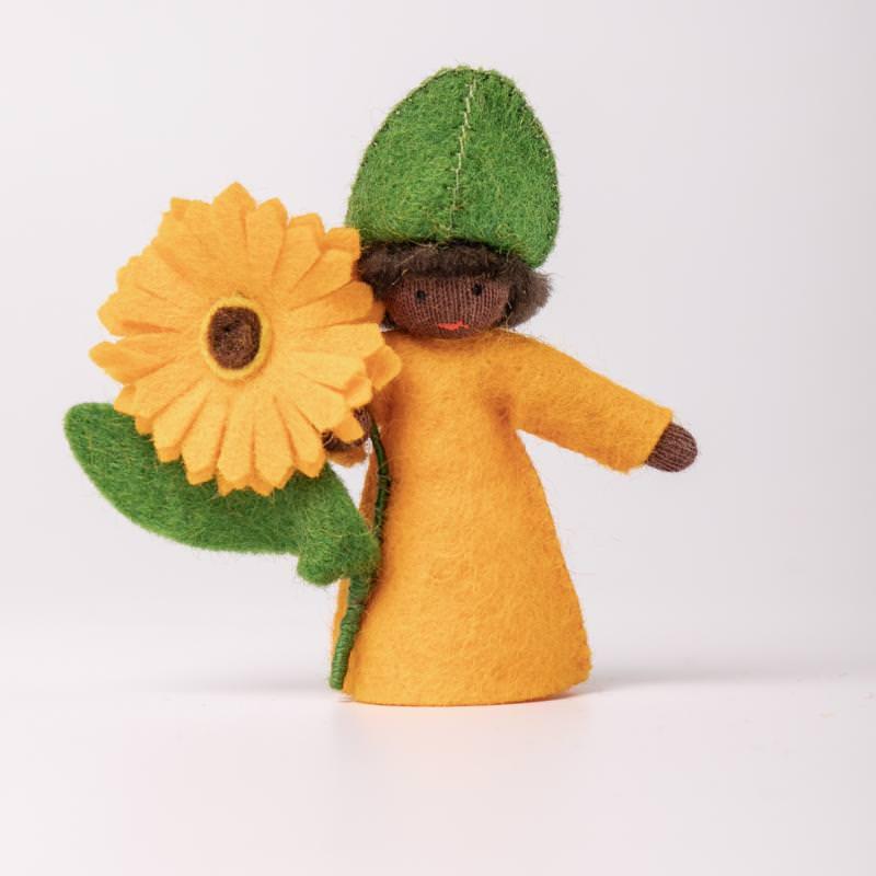 Filzpüppchen Blumenkind Ringelblume 1