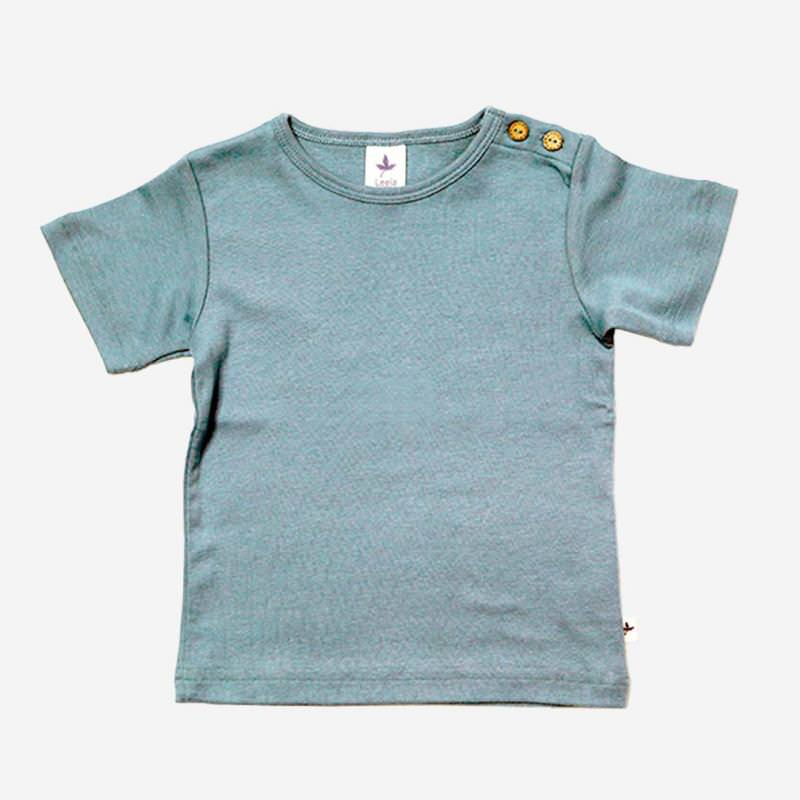T-Shirt Baumwolle taubenblau