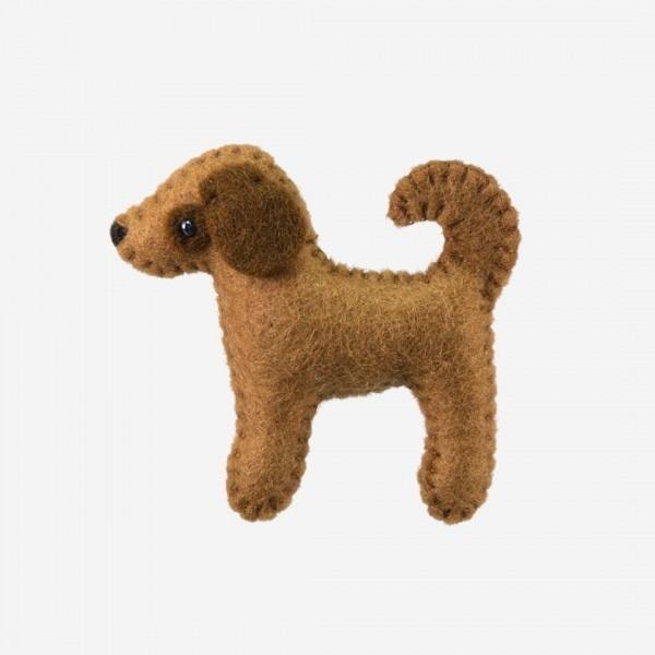 Kleine Filz Freunde Hund stehend