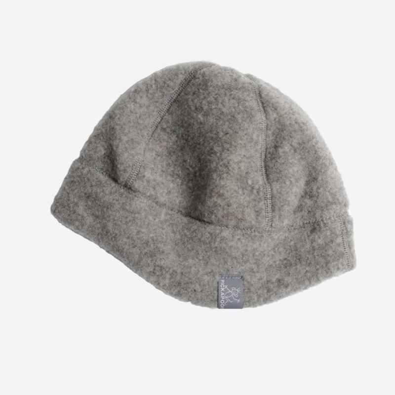 Mütze Milan Wollfleece grau