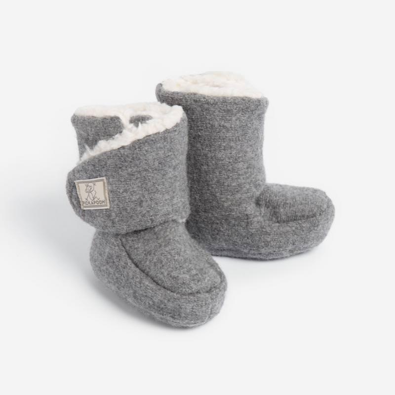 Baby-Stiefel Trotter Wollwalk grau