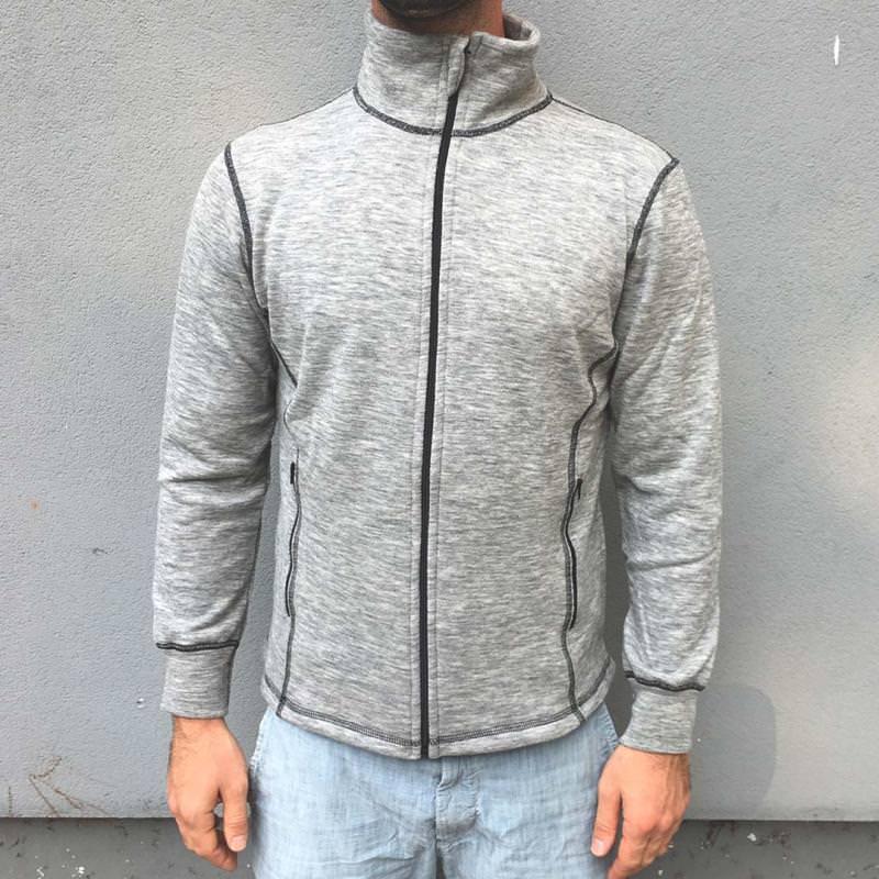 Herren Zip-Jacke Wolle