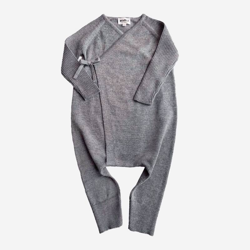Overall Kizuna Merinowolle grey melange