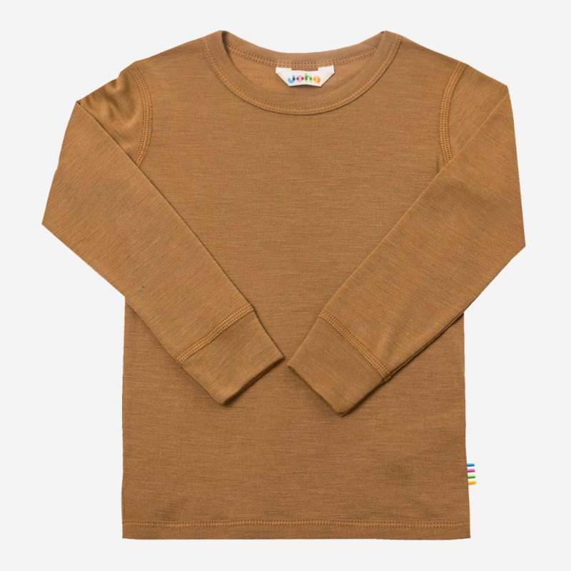 Shirt langarm Wolle/Seide zimt