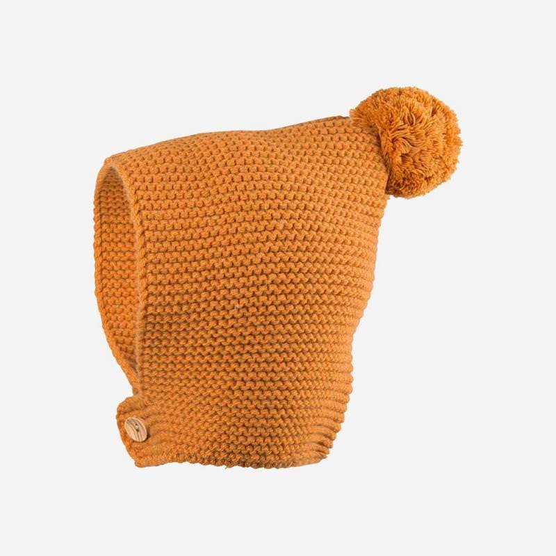 Baby Mütze Alpaka amber