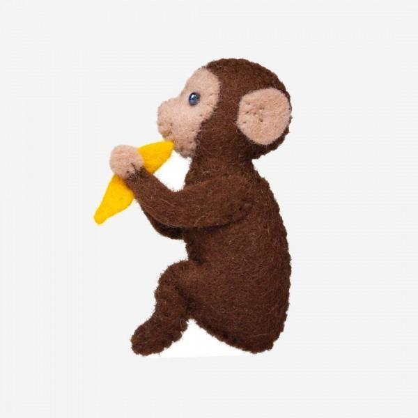 Kleine Filz Freunde Affe