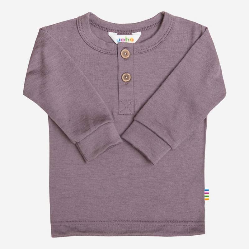 Shirt langarm Merinowolle veilchen