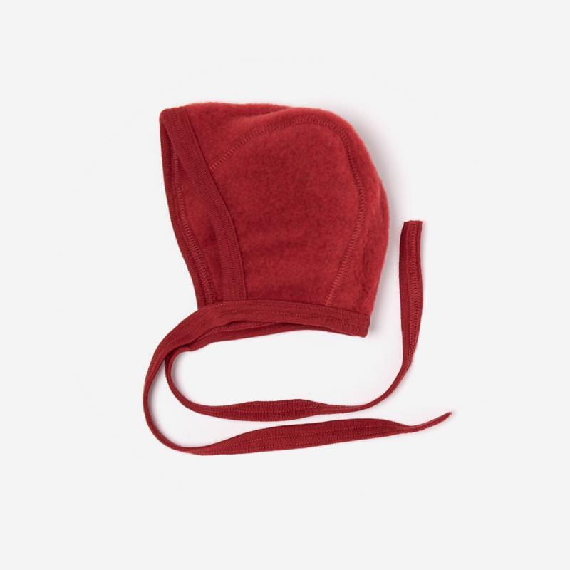 Häubchen Wollfleece rot