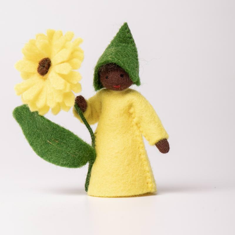 Filzpüppchen Blumenkind Zinnie 1