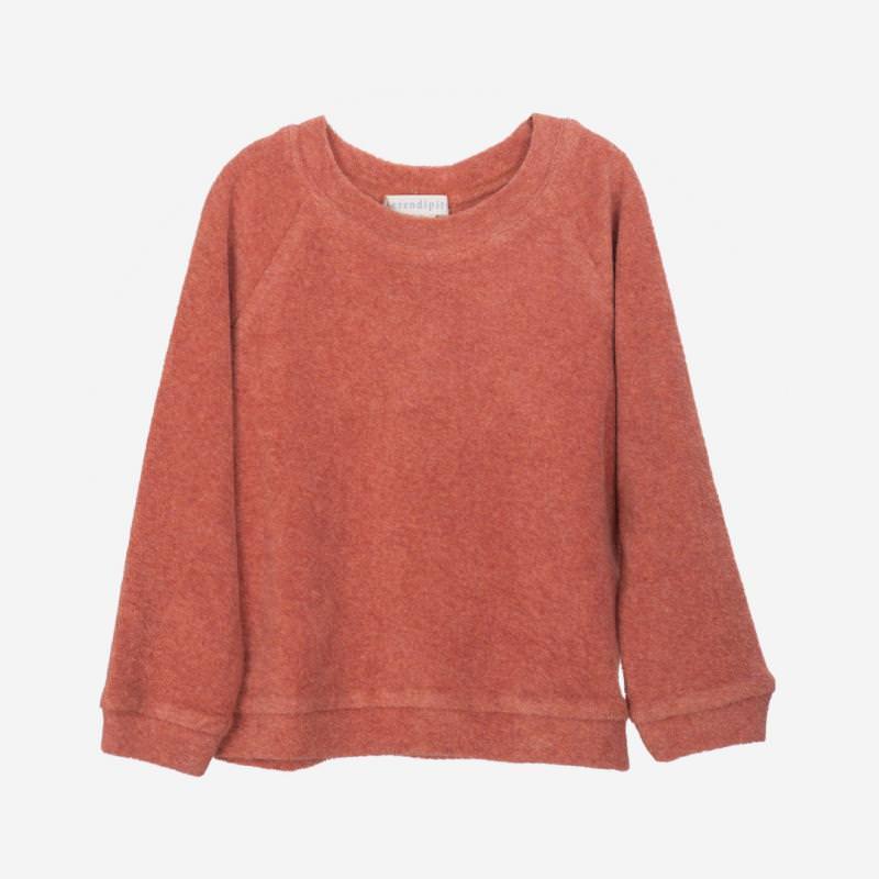 Shirt Langarm Frottee brick