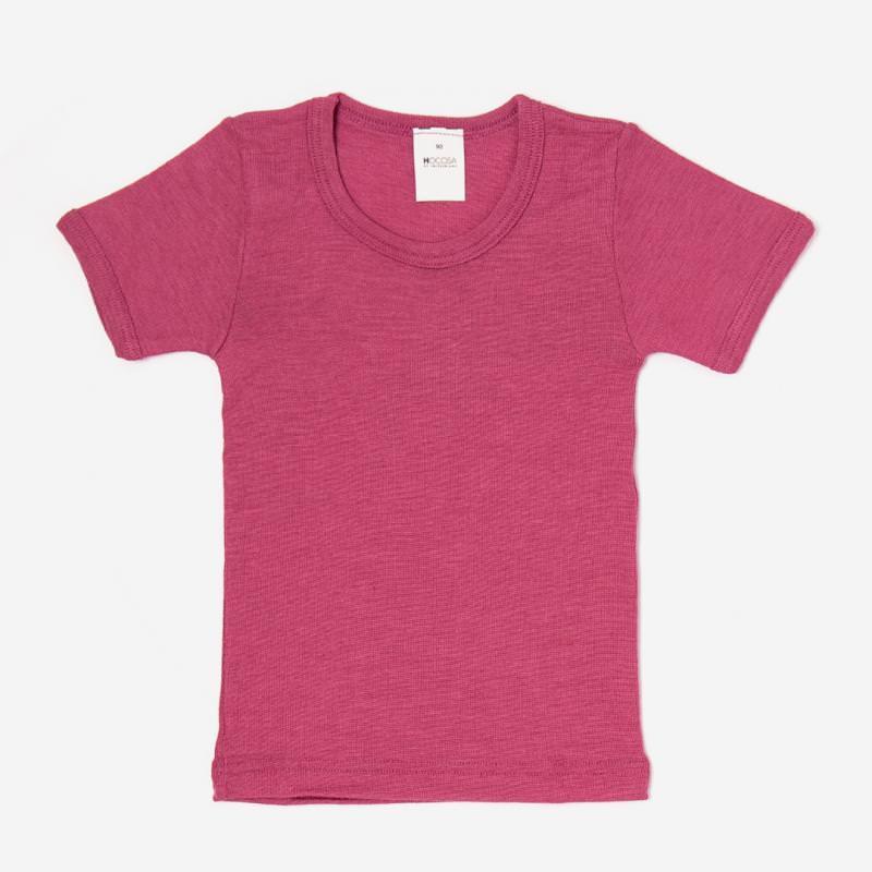 Unterhemd kurzarm Wolle/Seide fuchsia Hocosa pink