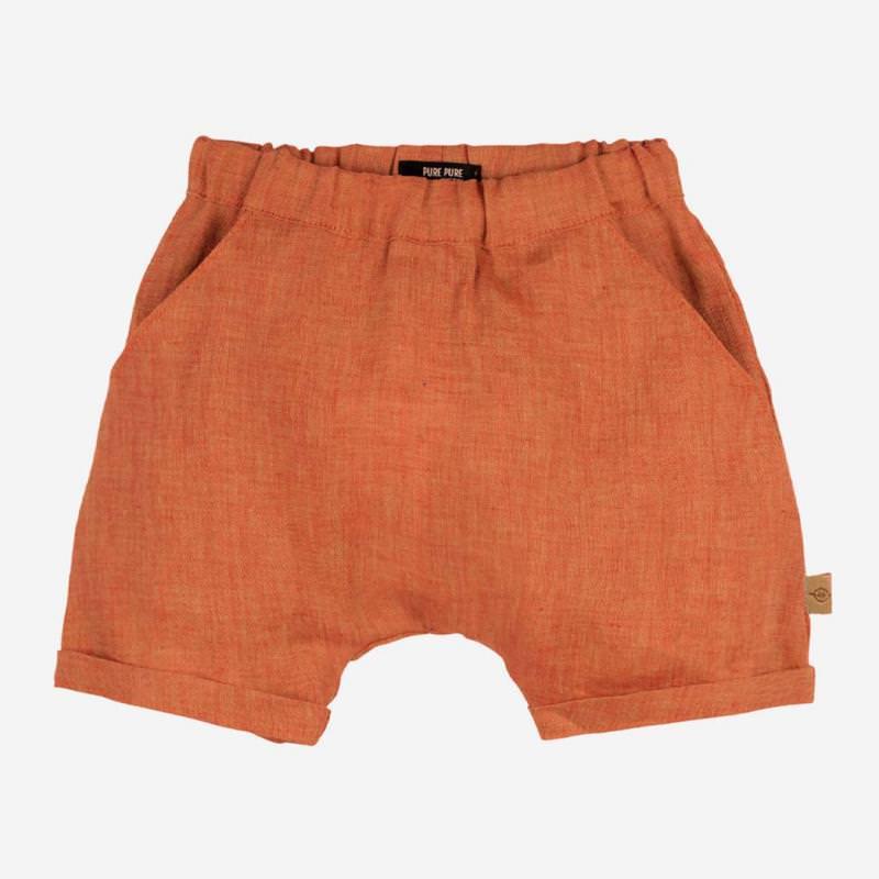 Baby Shorts Leinen orange