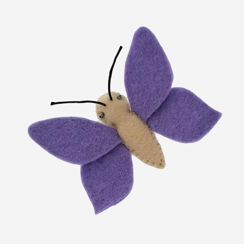 Kleine Filz Freunde Schmetterling lila