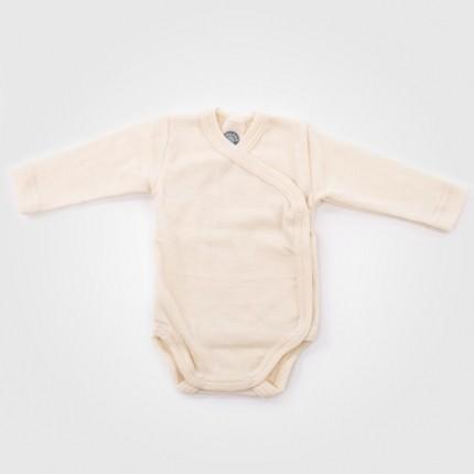 Wickelbody natur Wolle/Seide