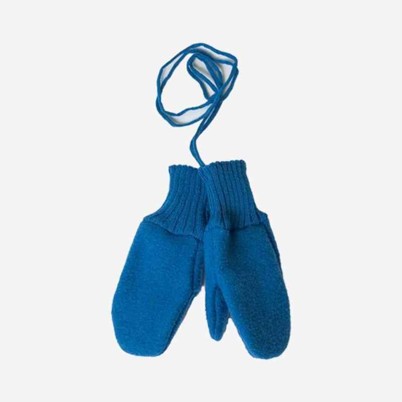 Walkhandschuhe Wolle blau