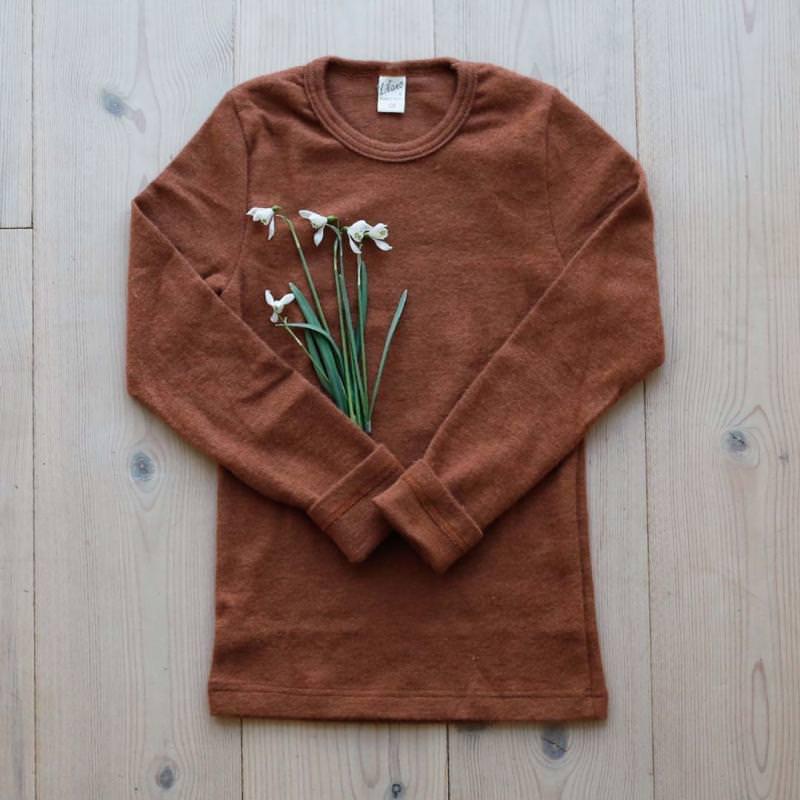 Shirt Wolle/Seide rust