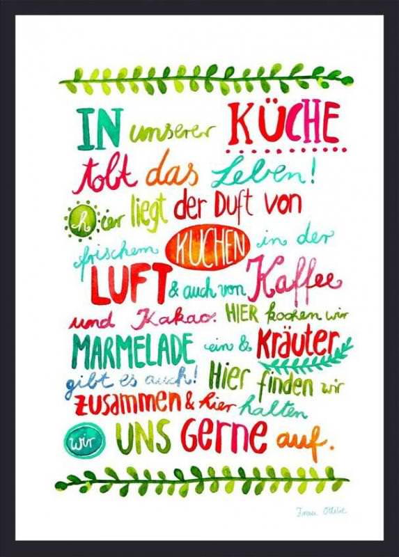 "Print ""Küche"""