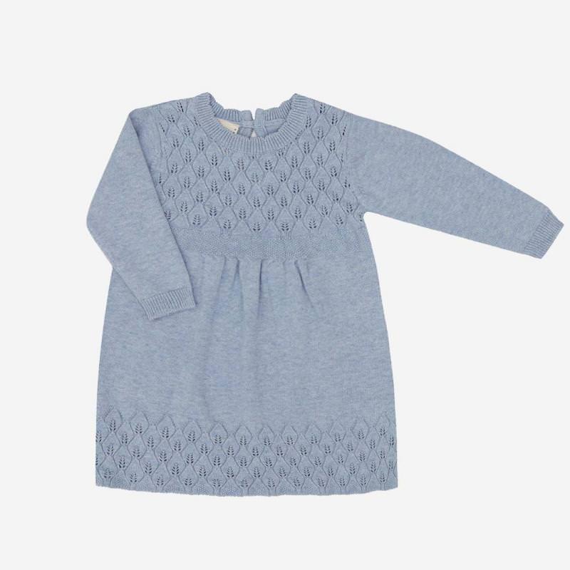 Babykleid Baumwolle/Seide zen blau