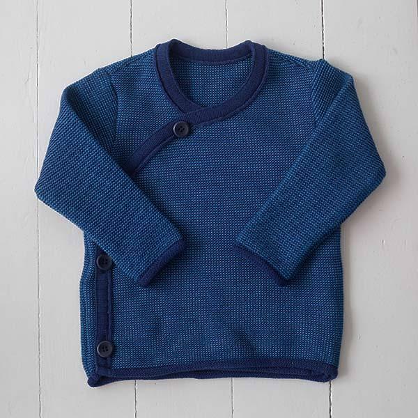 Melange-Jacke marine-blau