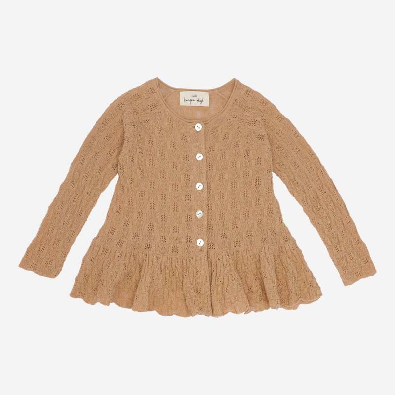 Kinder Cardigan Cypres Frill von Konges Sløjd aus Bio-Baumwolle in blush