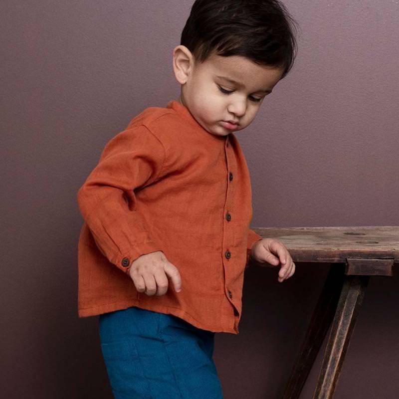Baby Hemd Gauze von Serendipity aus Bio-Baumwolle in henna