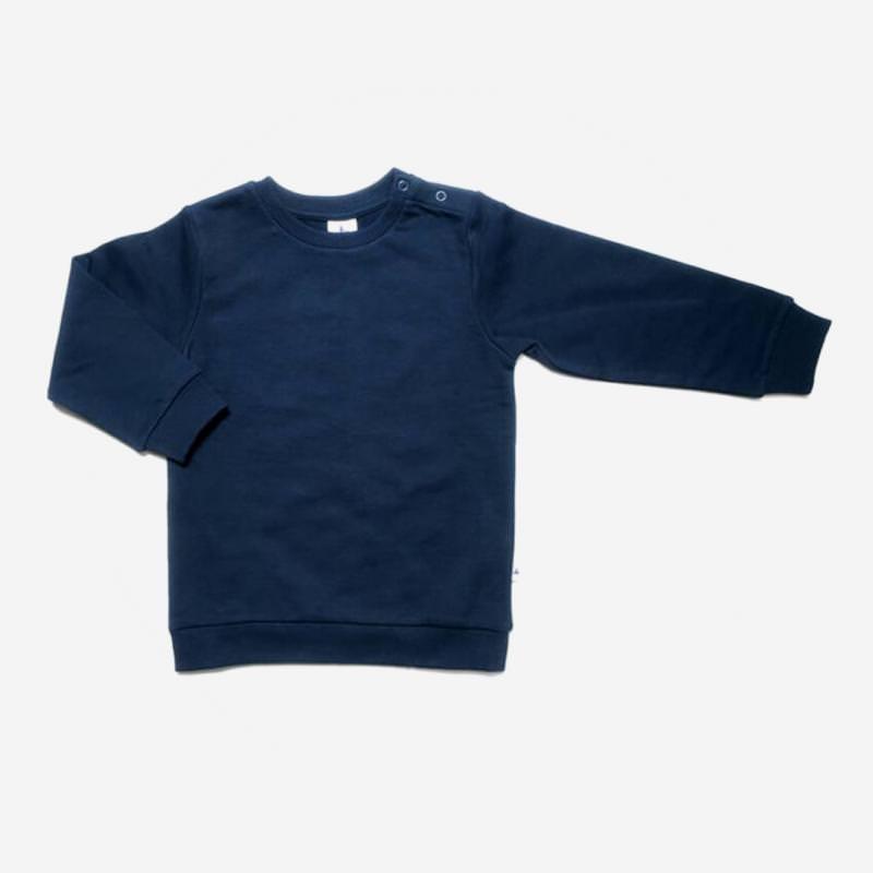 leela cotton sweat shirt indigo dunkel blau