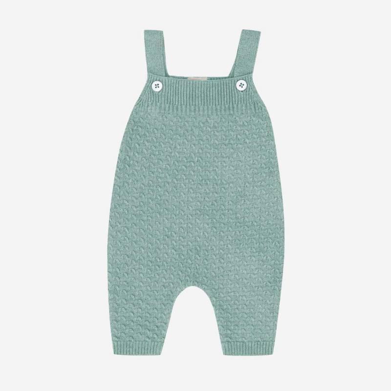 Trägerhose Baumwolle/Seide seagreen