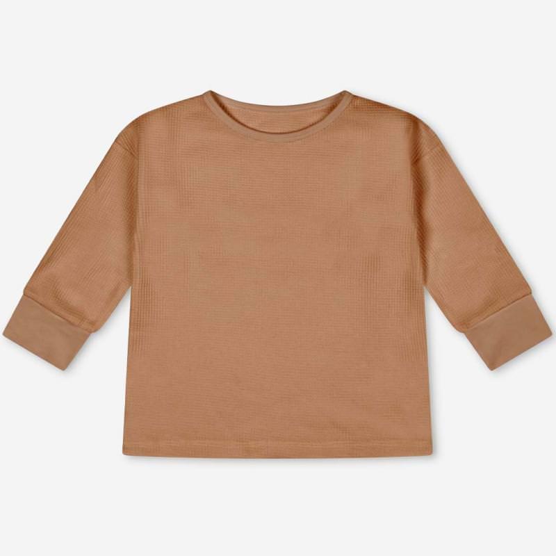 Kinder Basic Longsleeve Langarmshirt von Matona aus Bio-Baumwolle in terracotta