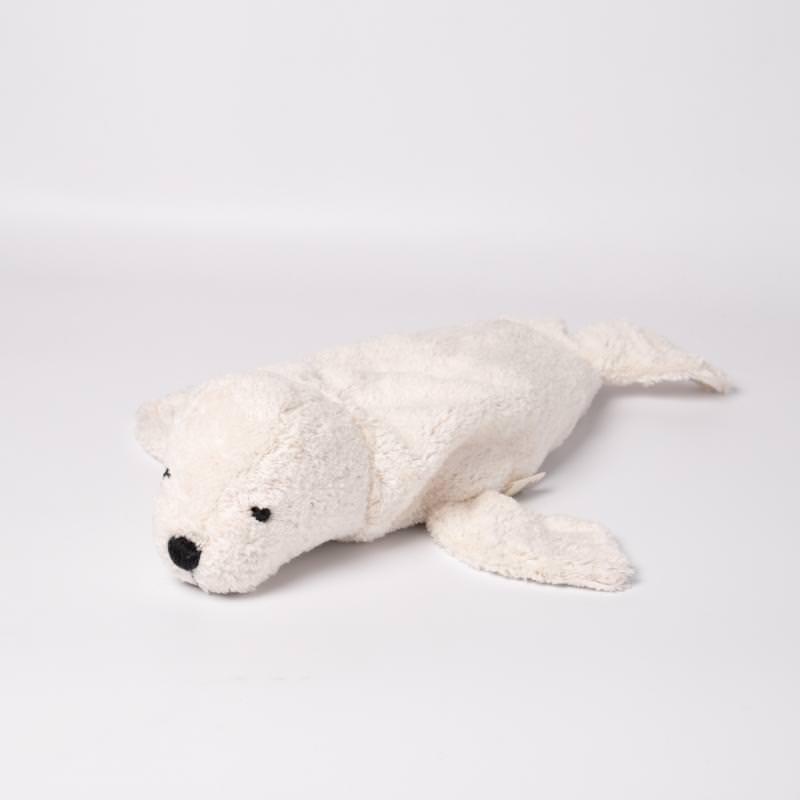 Kuscheltier Robbe weiß klein