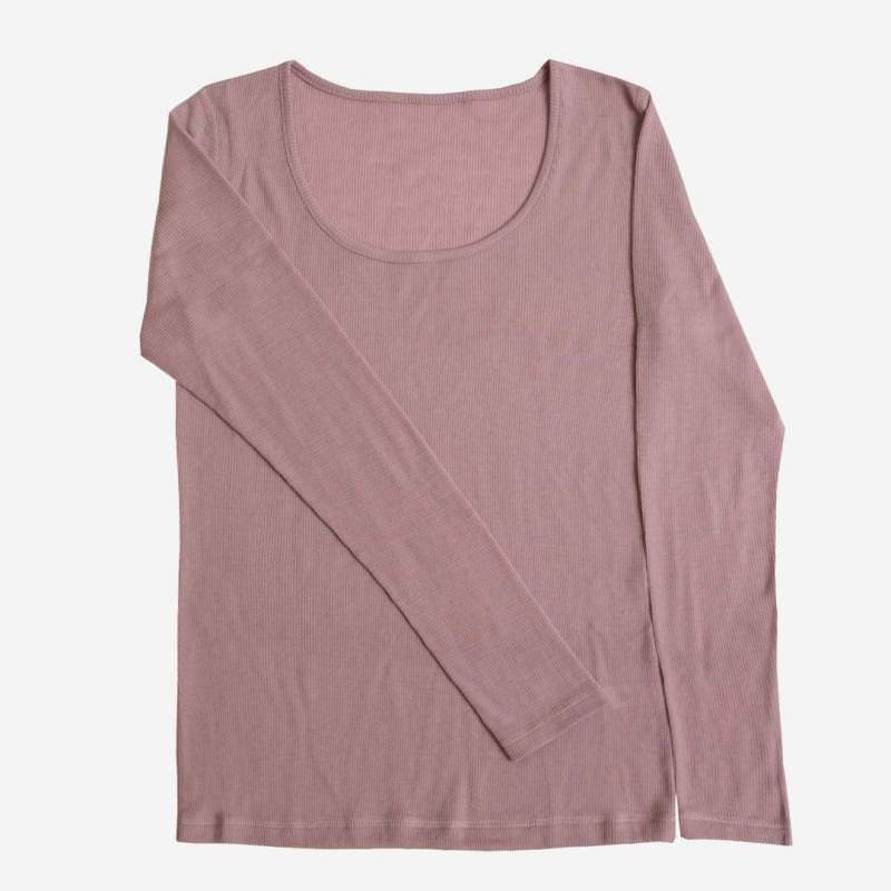 Damen Unterhemd Wolle/Seide rosa