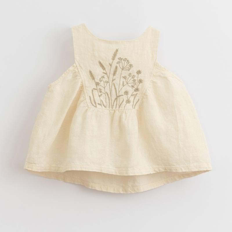 Tunika Leinen dandelion weiß