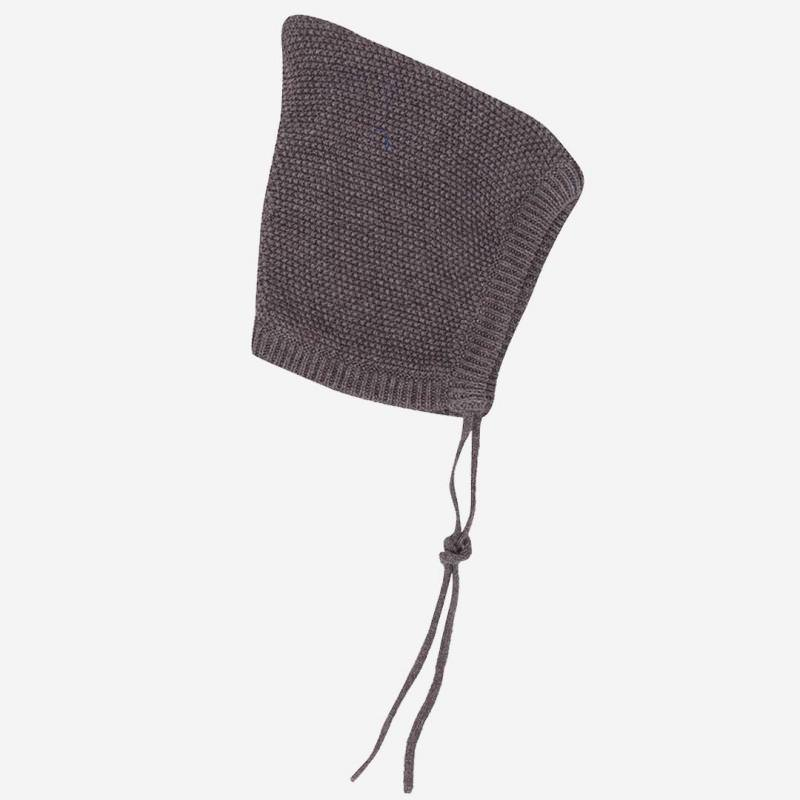 Mütze Retro Baumwolle Wolle grau