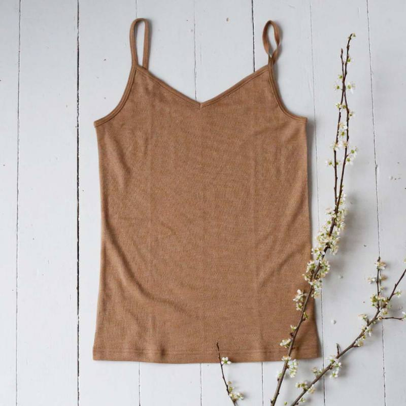 Trägerhemd Wolle/Seide Damen
