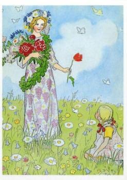 Postkarte Mittsommerfee
